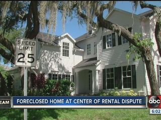 Foreclosure house at center of rental dispute