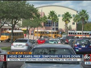 Tampa Prep head temporarily steps down