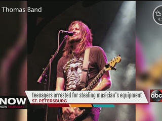 Teens steal local band's truck and equipment