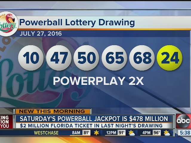 Saturday's Powerball jackpot up to $478 Million