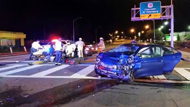 Car Crash In Pinellas Park