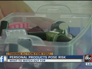 Chemicals lurking in your personal care items
