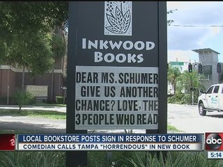 Schumer responds to book owner tweet about Tampa