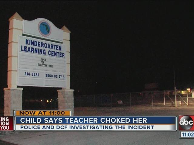 5-year-old girl claims sub choked her in class
