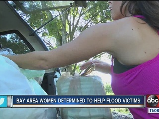 Bay area women determined to help flood vicitms