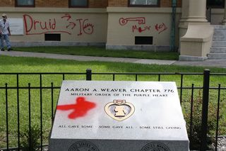 Purple Heart monument vandalized in Inverness