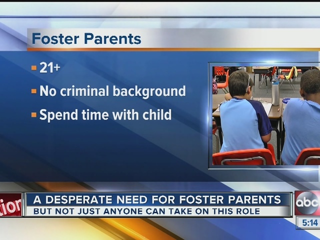 A desperate need for foster parents