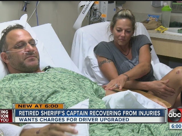 Crash injures retired deputy and his family