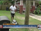 Neighbors call police on man as he mows lawn