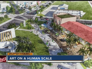 "Artist plans to tie ""arts district"" together"