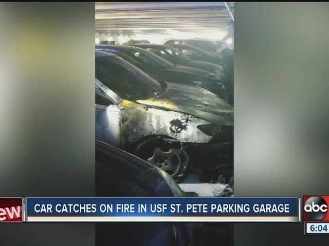 Car Catches Garage On Fire In Rochester: Car Catches Fire In Student Parking Garage At USF St. Pete