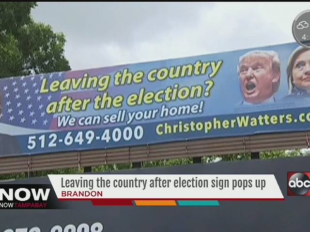 Leaving the country after elections sign pops-up in Brandon
