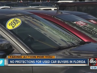 No protections for used car buyers in Florida