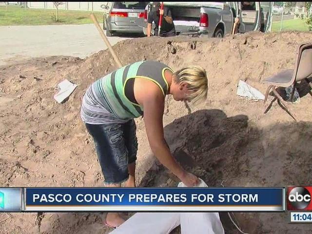 Pasco County prepares for storm