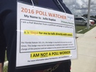 Republican poll watchers in local polling places
