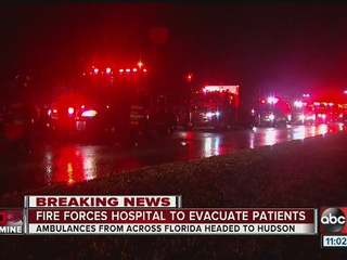 Fire at Hudson hospital, patients evacuated