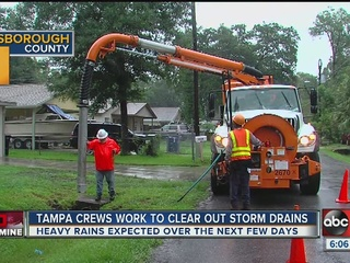 Tampa crews take preventive steps ahead of storm