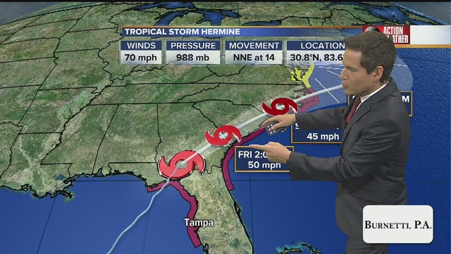 Tropical depression expected to bring heavy rain to Fla