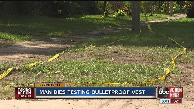 Florida man shoots, kills cousin testing bulletproof vest