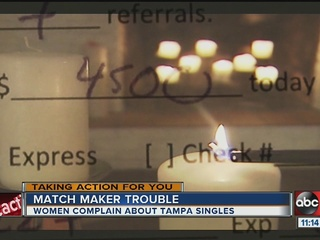 Tampa match maker disappoints dozens of clients