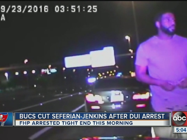 Bucs player offers touchdown ball to police during DUI arrest