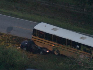 School bus accident with injuries in Brooksville