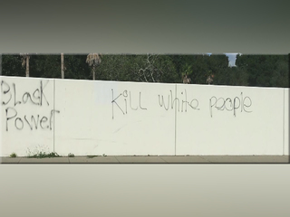 Phrase 'kill white people' painted on Fla. wall