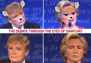 Snapchat users had too much fun with the debate