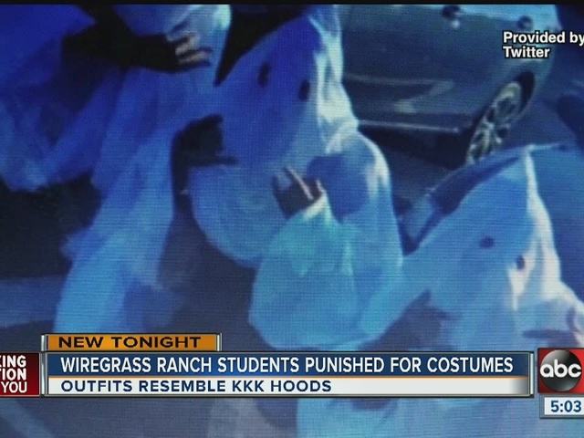 Students in trouble after wearing KKK costumes to school