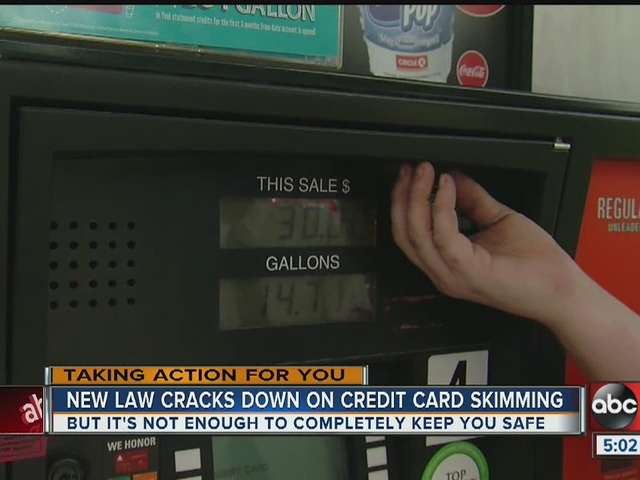 New rules go into effect to fight credit card skimming at gas pumps