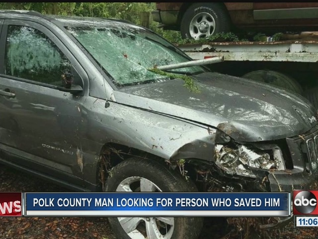 Polk County man looking for person who saved him