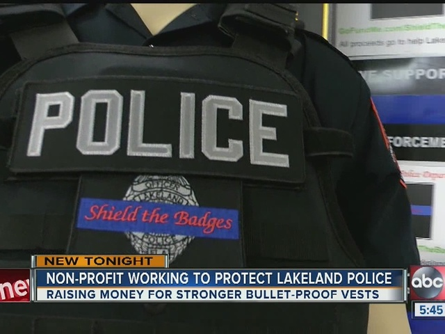 'Shield the Badges' non-profit hopes to outfit all of LPD with active…