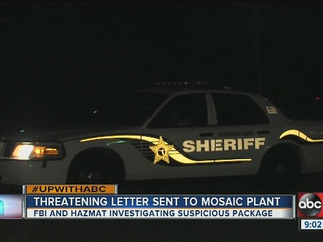 FBI investigates threatening letter sent to Mosaic