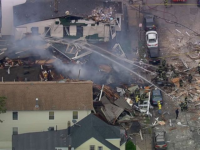 New Jersey homes destroyed in blast after gas smell report