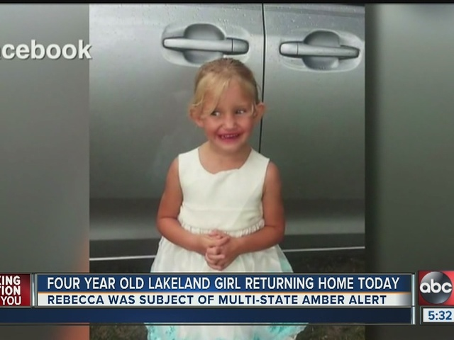 Four-year-old Lakeland girl returning home on Tuesday