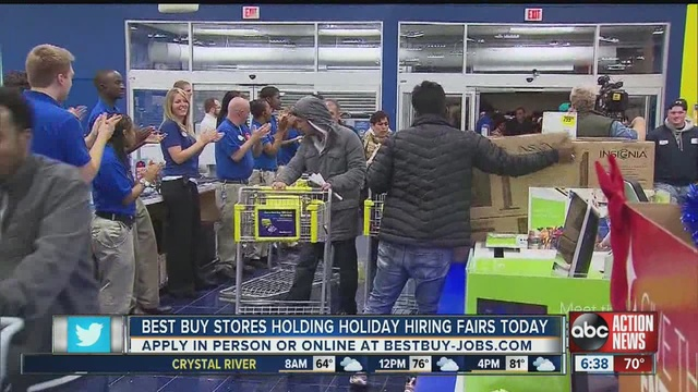 best buy stores hiring for holiday season work
