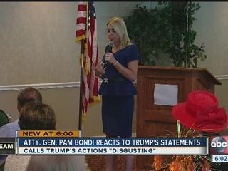 Pam Bondi calls Trump's actions 'disgusting'