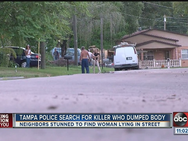 Woman murdered, dumped in middle of the street