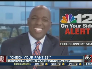 """Check Your Panties,"" TV anchor goes viral"