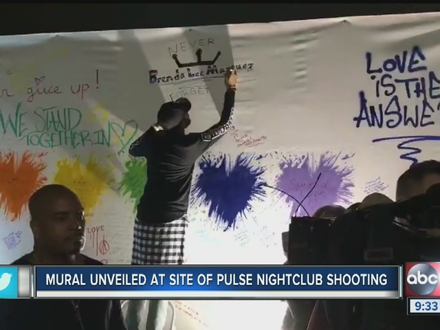 Artist Mr. Brainwash reveals mural at Pulse Nightclub in Orlando
