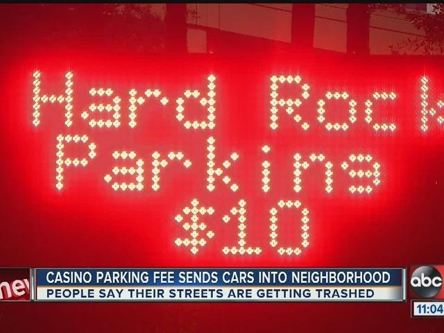 Casino parking fee sends cars into neighborhood