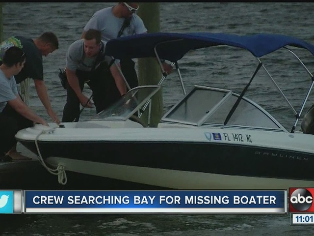 Tampa Police Dive Team searches for missing boater near Courtney…