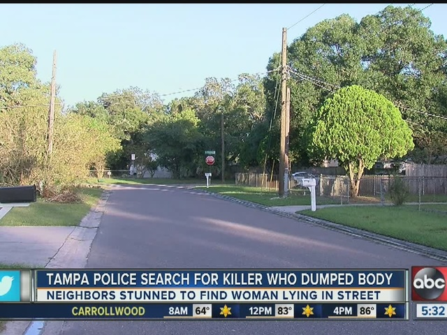 Woman murdered, dumped in middle of Tampa street