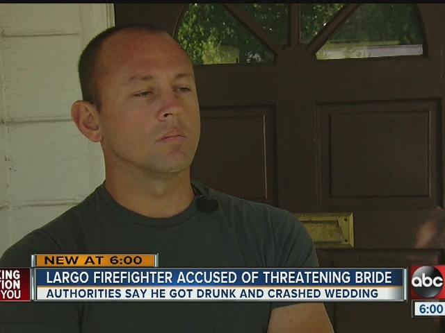 Largo Firefighter fired after crashing wedding party, threatening bride