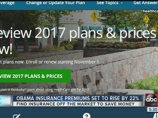 Insurance premiums expected to go up 22% in 2017