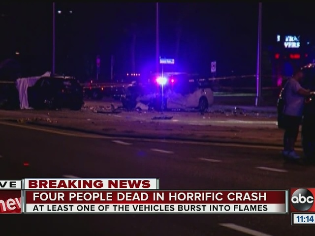 FHP investigating fatal multi-car crash that leaves 4 dead