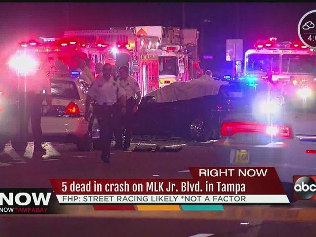 5 dead in crash on MLK Jr. Blvd in Tampa