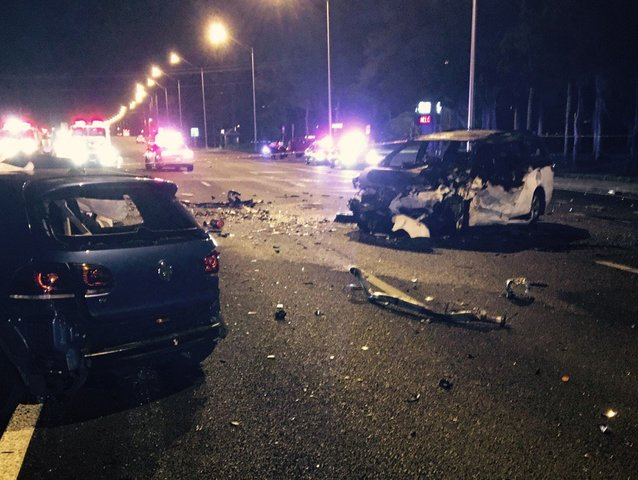 Woman On Fire In Car Accident Palm Beach County