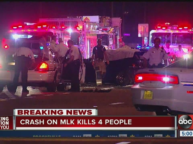 Florida Highway Patrol investgating deadly multi-car crash in Tampa that…