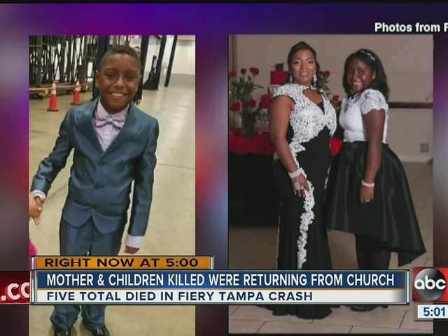 Mother and children killed were returning from church